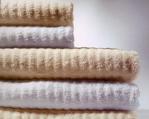 Corduroy, badstof handdoek, ribweving (100% bio katoen, 550 gr/m2) Abyss