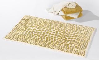 Dolce, badstof badmat, dot motief (60% gekamde katoen, 20% Acryl, 20% Lurex, 1900 gr/m2) Habidecor