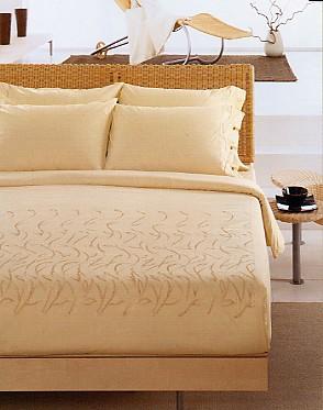 Germoglio (1-persoons dekbedovertrek, 100% natural cotton, met stiksels) Gabel