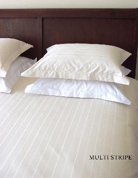 New Haven (Satijn katoen dekbedovertrek met ingeweven lijnen: hotelkwaliteit) HNL