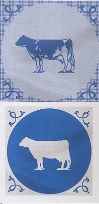 Tile Cow (Afdroogdoek / theedoek en keukendoek, 100% katoen, garen geverfd) Elias