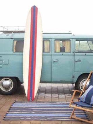 Big Wave, 100% Linnen tapijt (bedmat, loper, huiskamerkleed), Franjes aan uiteinden, Fijne ribcord van Libeco (Belgisch)