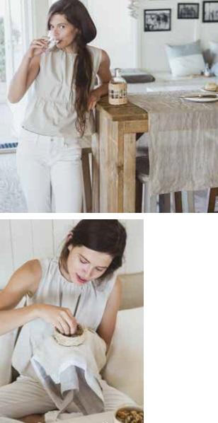 Fjord, 100% linnen washed tafellinnen (servetten, loper, tafellaken) van Libeco