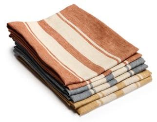 Flea Market, 100% linnen afdroogdoek (theedoek, glazendoek) kleuren: Crimson, Grigio; Sughero, Libeco (Belgisch)