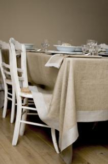 Frascati: OPRUIMING / SALE, 100% linnen, Schilderijzoom, natuurlijke tinten, duotone, Libeco (belgisch)