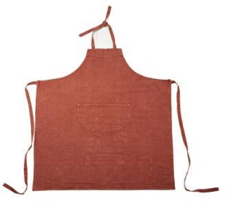 Harbour, washed linnen (91% linnen / 9% katoen) schort (apron), kleuren: Flax, Gunmetal; Old Red; Grey, Libeco (Belgisch)