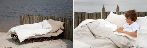 Heritage, Bedlinnen: dekbedovertrek / lakens / hoeslakens en slopen, 100% Organic linnen (GOTS-certified), washed look, Uni: Ash; Flax; Oyster; White, Libeco (België)