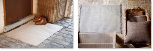 Portobello Road, 100% Linnen tapijt (bedmat, loper, huiskamerkleed), Franjes aan uiteinden, Fijne ribcord, Libeco (Belgisch)