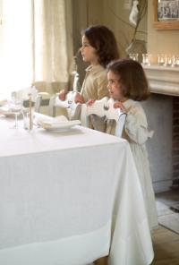 Vence OPRUIMING, 100% linnen tafellinnen (servet, placemat, loper, tafellaken), Soepel en lichtgewicht weefsel, Schilderijzoom zoom, Libeco (Belgisch)