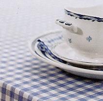 Sofia, tafellinnen, servet, tafelkleed, katoen, jacquard geweven ruit, Nyblom (Zweden) (OPRUIMING)