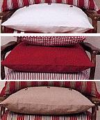 Enfärgad, deco sier kussen: cover / vulling, jacquard geweven lijn, Nybom (Zweden) (UITVERKOOP)