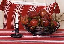 Liv Röd, Keukenlinnen, sloof / keukenschort, katoen, jacquard geweven streep, Nyblom (Zweden) (UITVERkOOP)