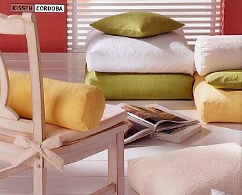 Cordoba, sierkussen deco kussen zitkussen, Materiaal: 70% katoen/30% polyester, Weving: relief weving, Eigenschappen: strijkarm, Merk: Pichler (Duitsland)