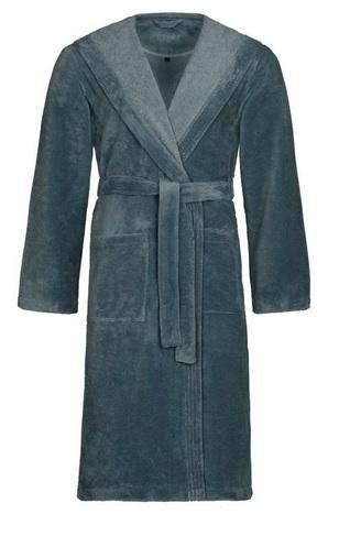 Lynn, wellness collectie, 50% katoen 50% polyester micro fiber (lichter van gewicht), met capuchon, unisex, met borduring 'sauna', merk: vossen (Oostenrijk)