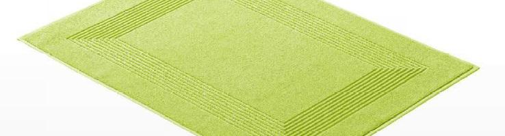 New Generation, badmat, 100% katoen, compacte afmeting, lekker licht, kan zo de wasmachine in, ingeweven verfijnd kader van recthoeklijnen, merk: Vossen (Oostenrijk)