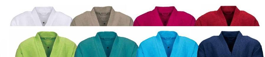 Rom, badjas, unisex, kimono-model, 100% katoen, wafelweving, wellness, sauna, merk: Vossen (Oostenrijk)