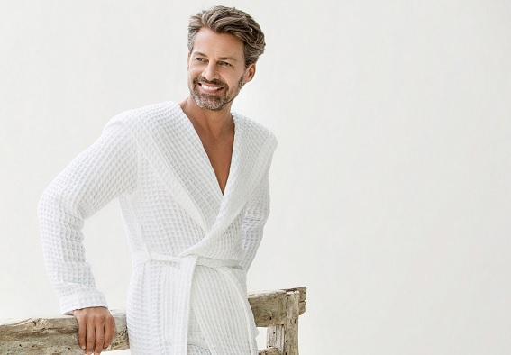Wellington, 100% katoen, wafelweving, unisex, kimono-model, wellness, sauna, kimono-style, merk: Vossen (Oostenrijk)