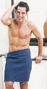 Will, saunakilt, heren, 100% katoen, wafelweving, wellness, sauna, merk: Vossen (Oostenrijk)