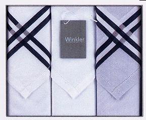 Clark II, zakdoek, Katoen, jacquard geweven kader, heren, Winkler (België)